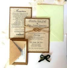 Idea Rustic Wedding Invitation Kits Or Mint Green Invitations Burlap Fabric Kit