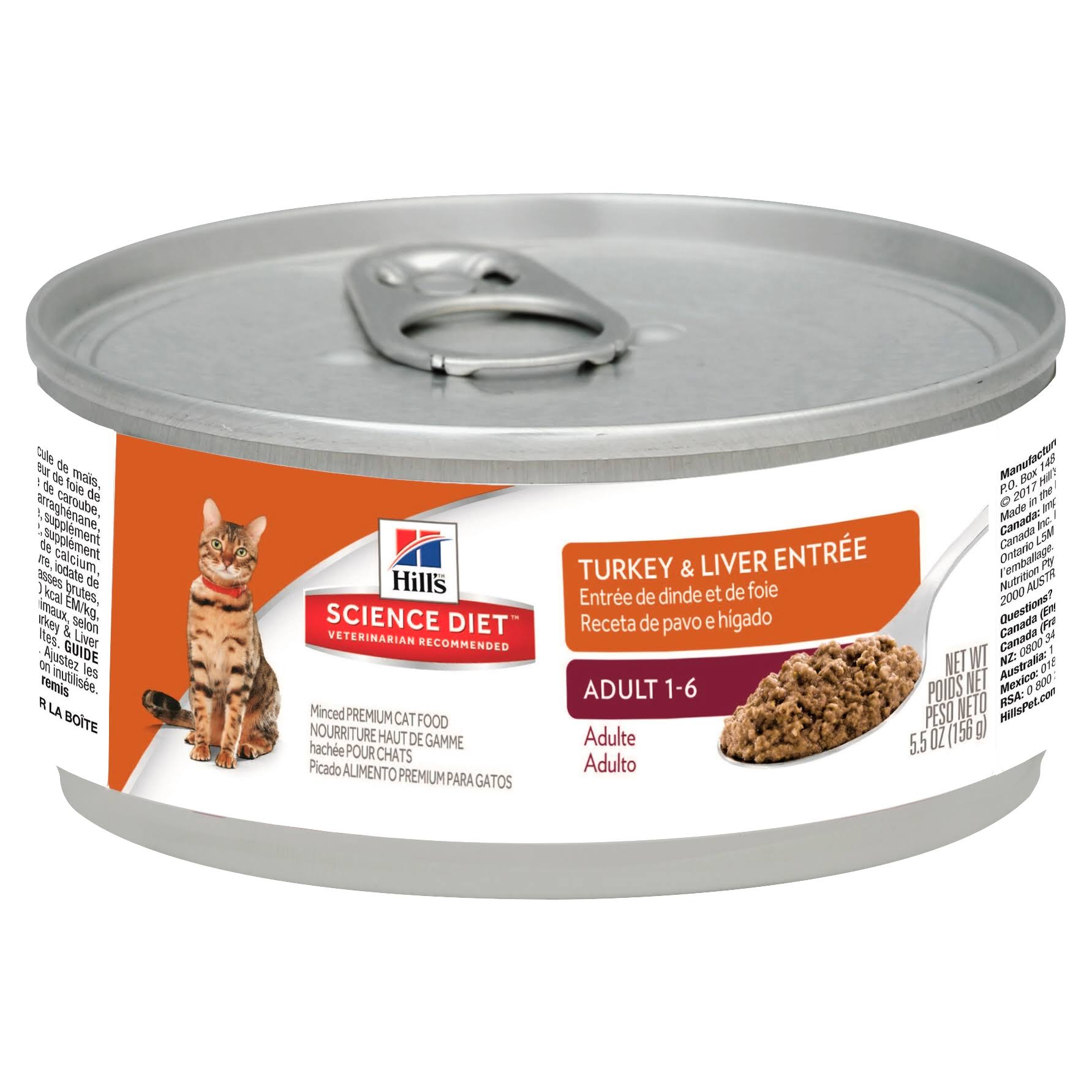 Hill's Science Diet Optimal Care Cat Food Minced - Turkey & Liver Entree
