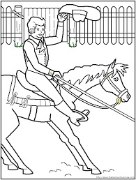 Barrel Racing Coloring Pages Printable