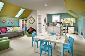 11 Dining Room Craft Combo Colorful And Playroom Idea Design Parkwood Homes