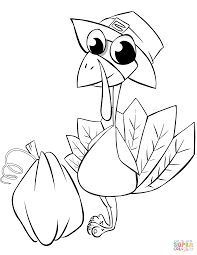 Turkey Coloring Pages With Thanksgiving