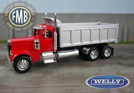100 Toy Peterbilt Trucks 39944 Welly 379 3axle Tipper Redsilver Other
