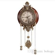 Relogio Cuco Clock Pendulum Mechanism Metal Art Antique Solid Wooden Wall Silent Movement Clocks Home Decor Watch Buy Online