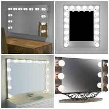 bright inspiration wall mounted makeup mirror with light