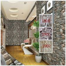 Self Adhesive 3D WallPaper Modern Vintage Stone Pattern Paper Wall Stickers For Living Room Balcony Terrace