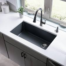 33x22 Single Bowl Kitchen Sink by Kitchen Bronze Arched Faucet With Single Handle With Glass