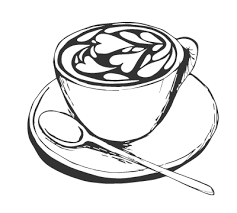 Collection Of Drawing Coffee Cup Sketch Png Clip Art Black And White