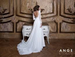 Rustic Country Boho White Backless Simple Wedding Dress Celie With