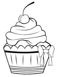 Cake Coloring Page Images Birthday Pdf Wedding Sheet Free Printable Cupcake Pages Kids Cup Full