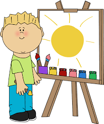 Svg Transparent Library Boy Painting On An Easel Clip Art