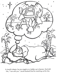 BIBLE COLORING PAGES Jacobs Dream
