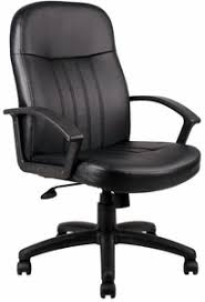Boss Full Back Leather Desk Chair B8106 Free Shipping