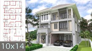 100 3 Level House Designs Modern Home Design 10x14m With 6 Bedrooms YouTube