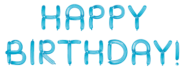 Birthday with Blue Balloons Transparent Clipart is available for free View full size