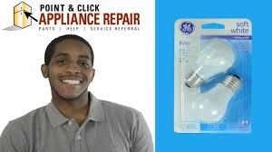 60a replacing your ge fridge light bulb fridge side 946591