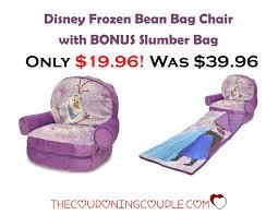 Kmart Frozen Bean Bag Chair by Disney Frozen Bean Bag Chair With Bonus Slumber Bag Only 19 96
