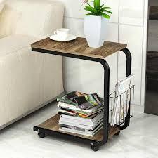 lk1694 schlafzimmer ecke tisch mit 360 grad bremse roller mini kaffee tisch beweglichen nachttisch wohnzimmer sofa schrank