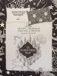 harry potter marauders map duvet reversible bed set primark single