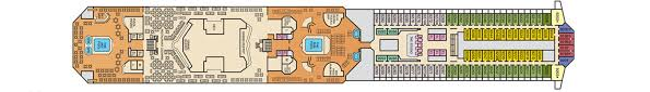 Carnival Conquest Deck Plans by Carnival Conquest Carnival Cruises Official Co Op Travel