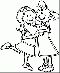 Two Best Friends Coloring Pages