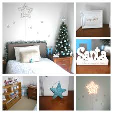 Accessories Bedroom Ornaments Beautiful Gray Christmas Kids Bed Headboard With Stars