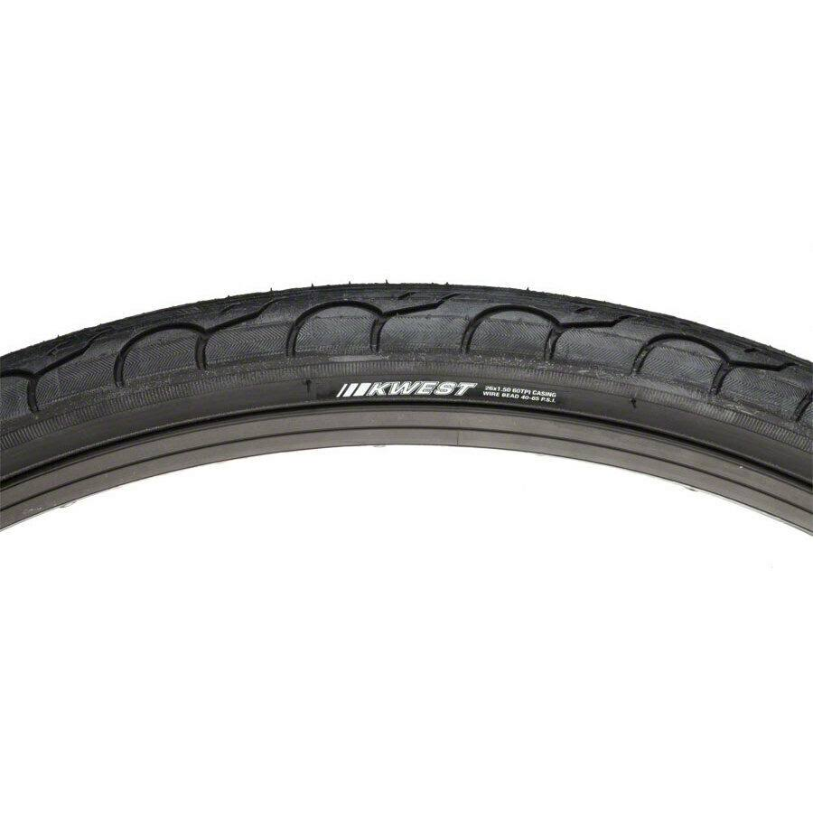 "Kenda KWest K193 Bicycle Tire - Black, 26""x1.5"""