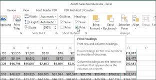 06 Selecting Print Under Headings