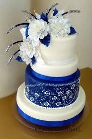 Blue and White Cake Design
