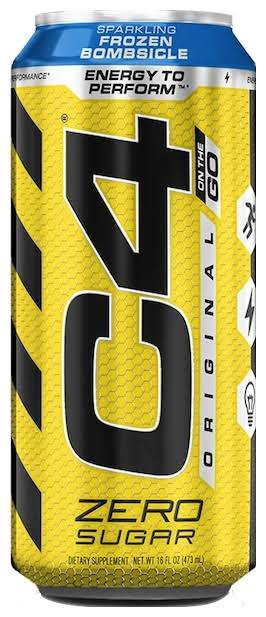 C4 Cellucor Original Carbonated Sparkling Drink, Strawberry Watermelon Ice - 16 fl oz can