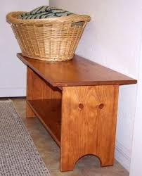 free wooden bench plans for shaker bench with shelf