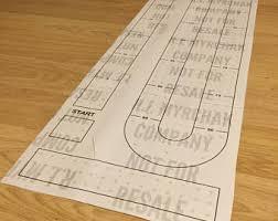 Large Cribbage Board Hole Pattern Paper Template Digital Download