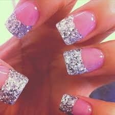 French Tip Nail Designs Glitter Choice Image Nail Art and Nail
