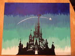 Coloring Your Wall With Modern And Stylish Canvas Art Disney In Blue