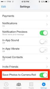 Save s to iPhone from Messenger automatically
