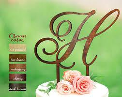 H Cake Topper Letter Wedding Initial