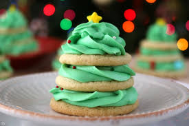 Stacked Christmas Tree Cookies Sugar Cookie Recipe