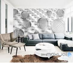 3D Line Sphere Ball 5D Wall Paper Mural Modern Art Print Decals Room Decor IDCWP
