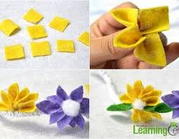 How To Make A Homemade Felt Flower Bracelet With Lace And Ribbon Regarding