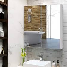 costway badezimmer spiegelschrank wandschrank hängeschrank