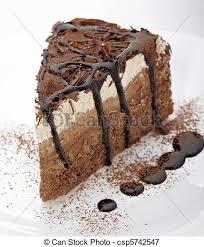 Cream Chocolate Cake Sweet Food Stock