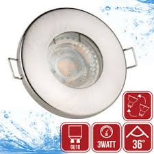 led einbaustrahler ip65 bad einbau leuchten 3watt len