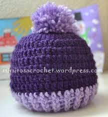 Gorro con pomp³n a crochet – Mimitos a Crochet