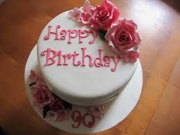 Birthday Cakes With Roses 90th Birthday Cake Roses Hydrangea 90th Birthday Cake