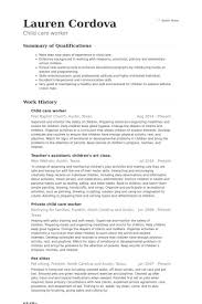 Child Care Assistant Resume Awesome Examples Of Resumes