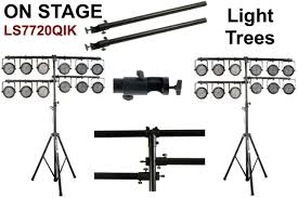 On Stage Ls7720qik ADJustable Heavy Duty 2 Tier 10.5' Light Stand Pair $10  Instant Coupon Promo Code: $10-OFF