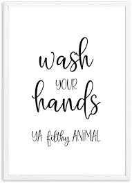 badezimmer wandkunst dekor lustige badezimmer zeichen