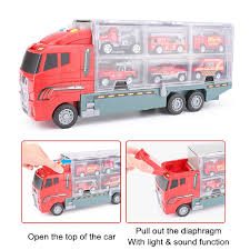 100 Semi Truck Toy CIN7 Pcs Double Sided Transport Matchbox Car Carrier Boys Gifts