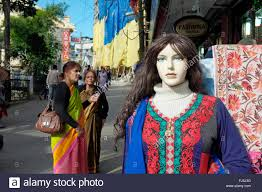 indian ladies shopping for clothes in darjeeling west bengal