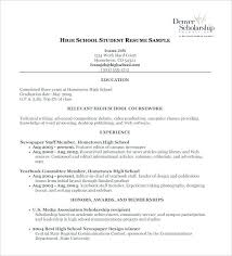 Academic Resume Template For High School Students 9 Free Word Excel Format