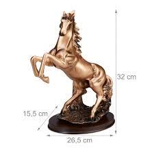 pferd deko pferdeskulptur pferdefigur wohnzimmer dekofigur kupfer dekoskulptur